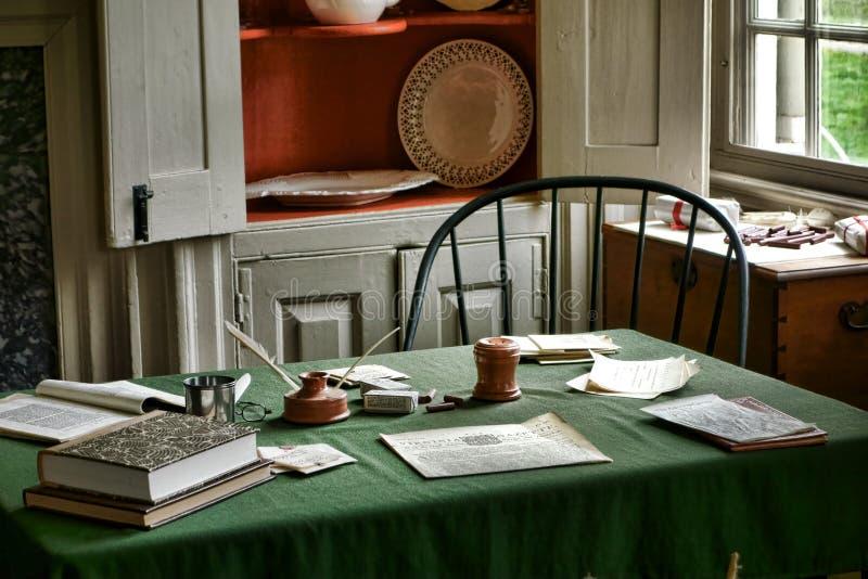 George Washington War Desk al parco della forgia della valle immagine stock