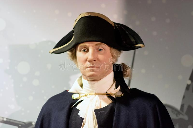 George Washington Wax Figure stock image
