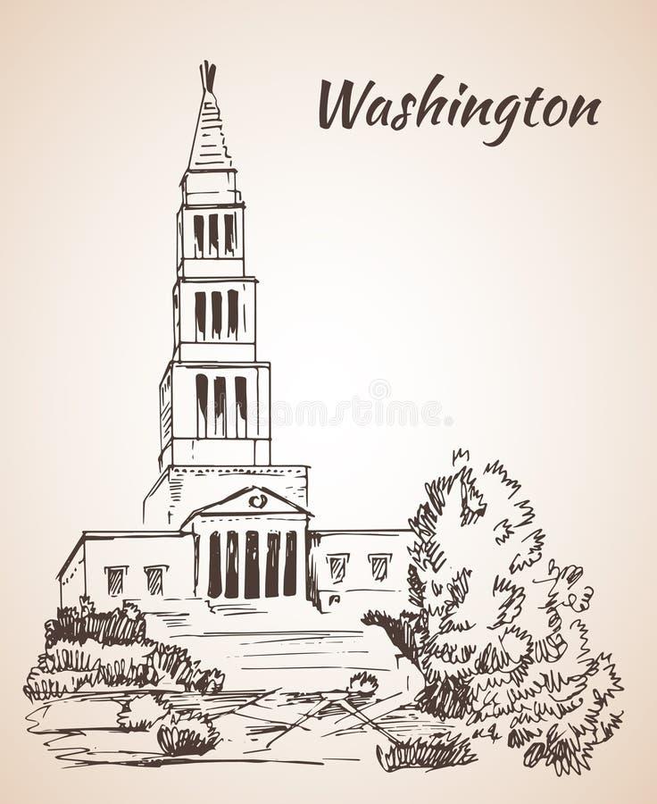 George Washington Wolnomularski Krajowy pomnik - usa royalty ilustracja