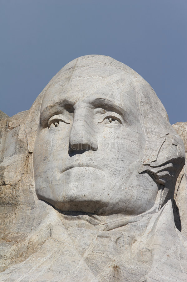 George Washington - zet rushmore nationaal gedenkteken op stock afbeelding