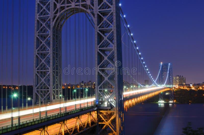 George- Washingtonbrücke lizenzfreie stockfotos