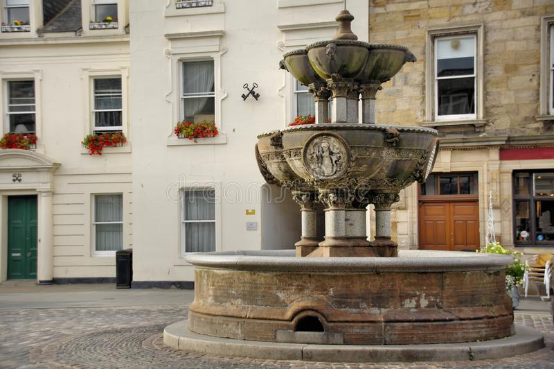 George Whyte Melville Memorial Fountain bij St Andrews in Schotland stock afbeelding