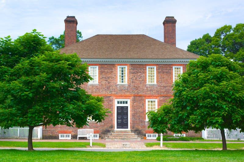 George Wythe House in Williamsburg lizenzfreie stockbilder
