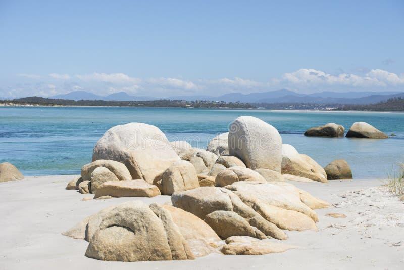 Georges Bay an der Bucht des Feuers, St. Helens, Tasmanien lizenzfreie stockfotografie