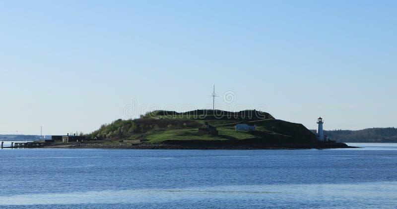 Georges Island in Halifax, Nova Scotia, Canada royalty-vrije stock afbeelding
