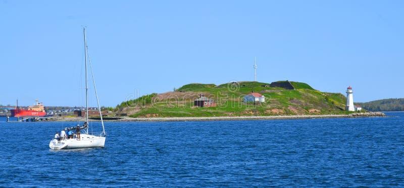 Georges Island Lighthouse lizenzfreies stockfoto