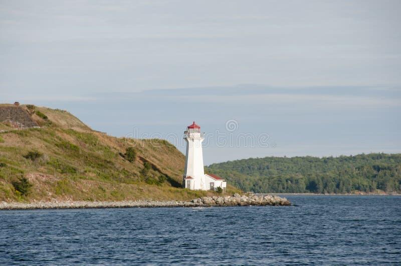 Georges Island Lighthouse - Halifax - Nova Scotia royalty-vrije stock foto's