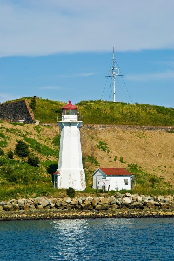 Georges Island vuurtoren stock afbeeldingen