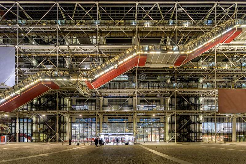 Georges Pompidou-centrum royalty-vrije stock afbeeldingen