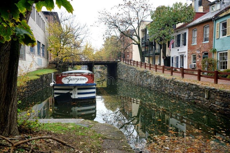 Georgetown barge dentro la vicinanza del Washington DC fotografia stock