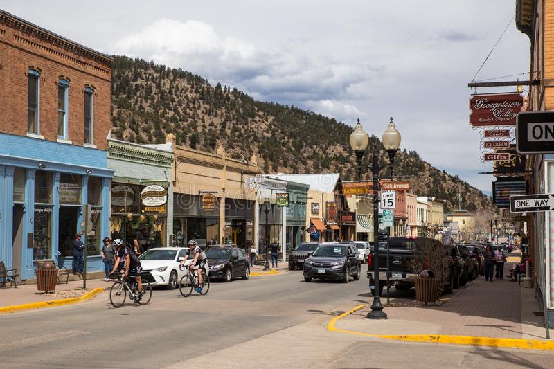 Georgetown Colorado Old Mining Town stock photography