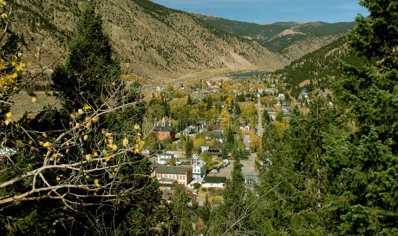 Georgetown, Colorado nella caduta fotografia stock libera da diritti