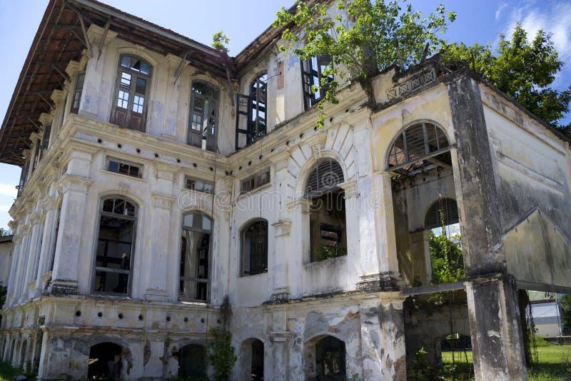 Georgetown dilapidó edificio de la herencia fotografía de archivo