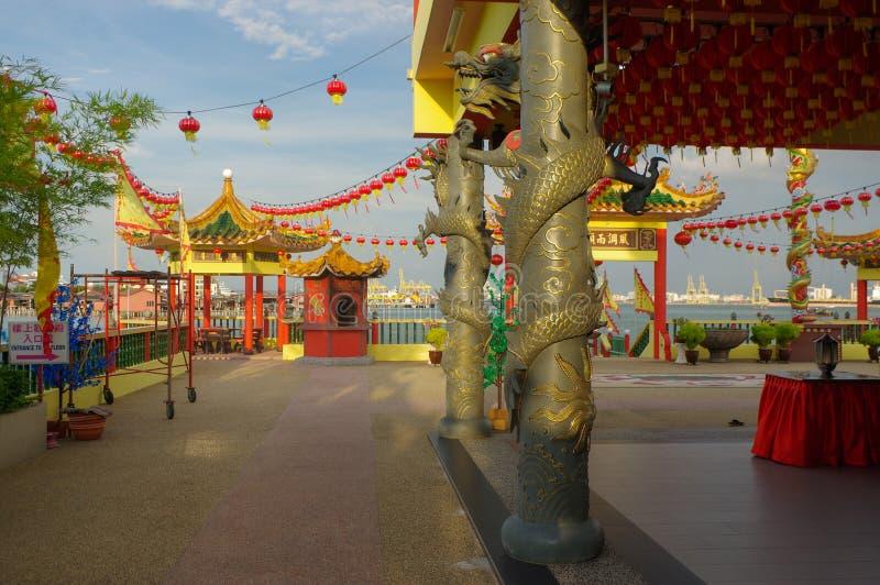 GEORGETOWN, MALAISIE - NOVEMBRE 18,2016 : une vue de plan rapproché de temple de Hean Boo Thean Kuanyin Chinese Buddhist dans des photo libre de droits