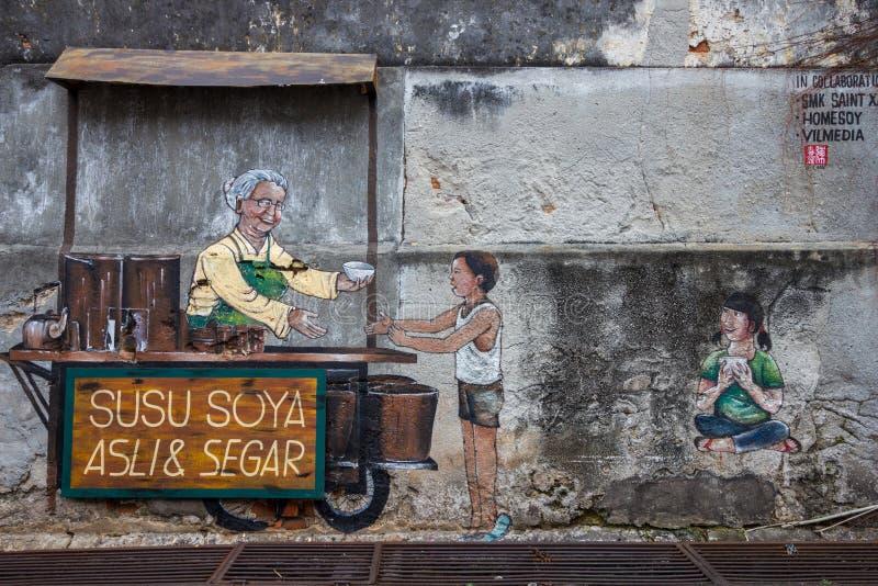 Georgetown Malaysia obrazki na ściennym Penang zdjęcia stock