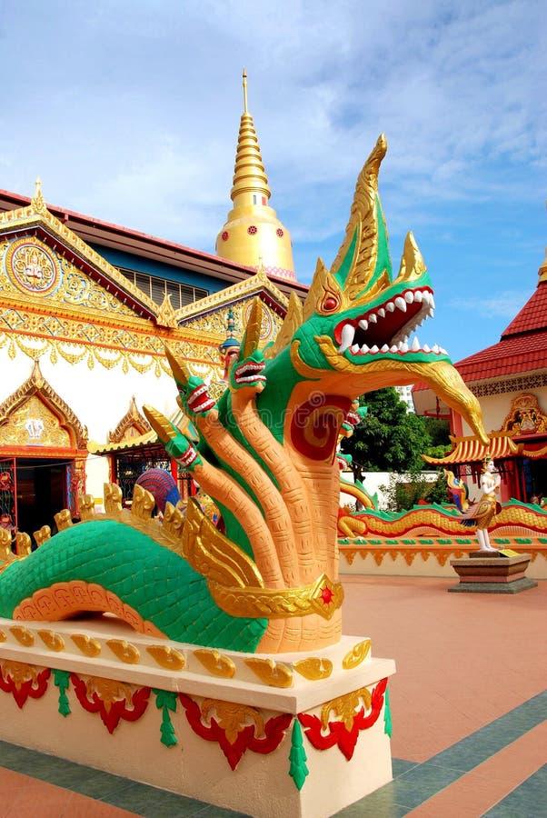 Georgetown, Malaysia: Thai Temple Naga royalty free stock images