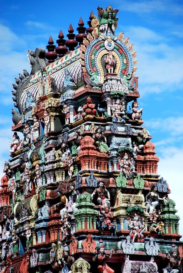 Georgetown, Maleisië: Hindoese Tempel royalty-vrije stock afbeelding