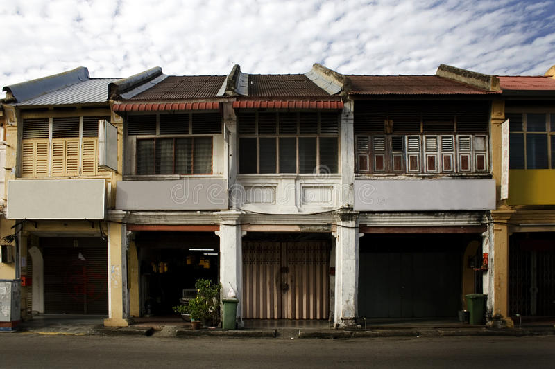 Georgetown, old colonial street, malaysia royalty free stock photography