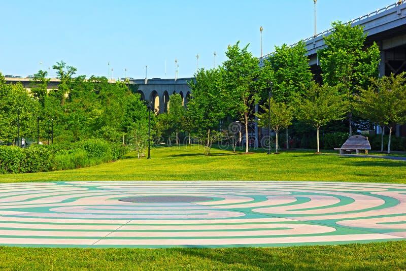 Georgetown park w wczesnym poranku, washington dc obrazy royalty free