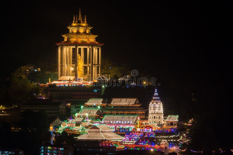 Georgetown Penang Świątynny Kek Lok Si fotografia stock