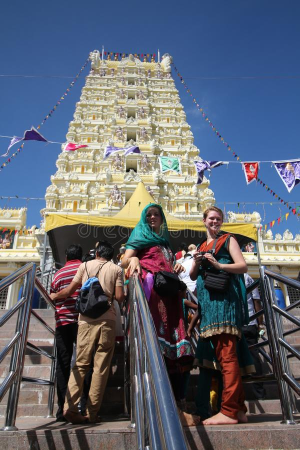 "Georgetown, Penang € de Malásia ""CERCA DO janeiro de 2016: Visitante na cume fotografia de stock royalty free"