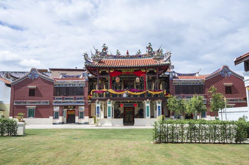 Georgetown, Penang, Malasia - 14 de diciembre de 2015: La fachada de Cheah Kongsi, Georgetown, Malasia imagen de archivo libre de regalías