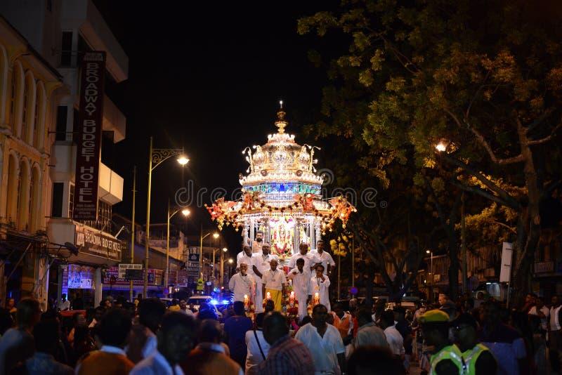 "GEORGETOWN PENANG-/MALAYSIA†""CIRCA JANUARI 2016: Hinduiska fantaster in royaltyfri foto"