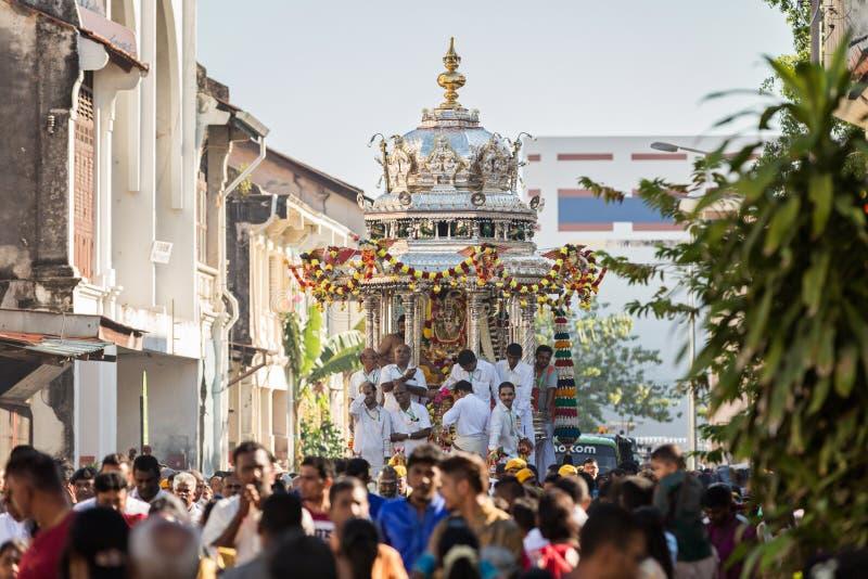 "Georgetown Penang, Malaysia †""Januari 23, 2016: Hinduisk fantast arkivfoto"