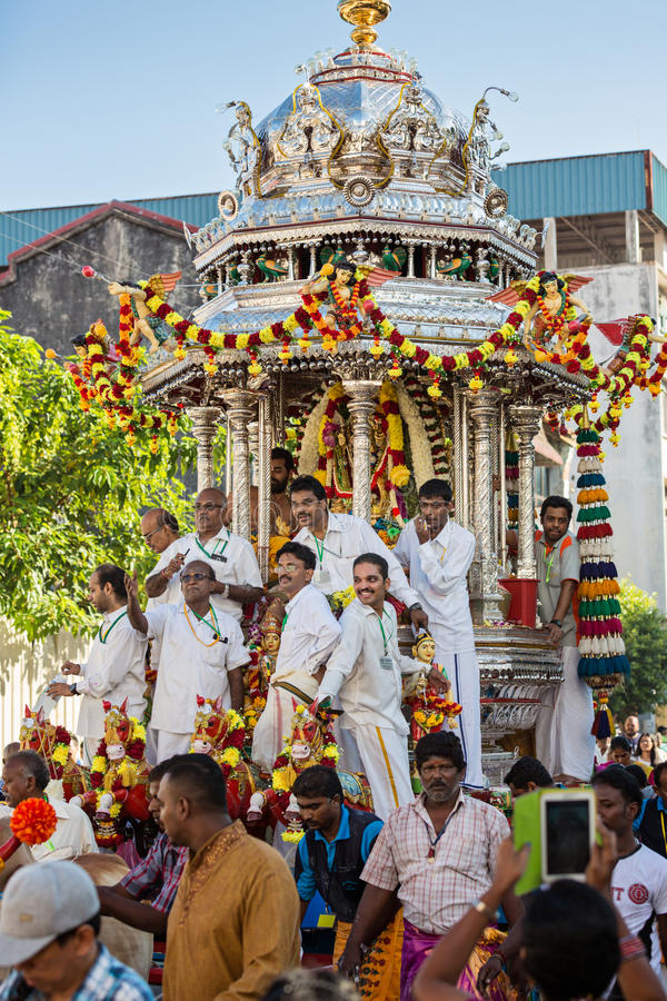 "Georgetown Penang, Malaysia †""Januari 23, 2016: Hinduisk fantast arkivfoton"