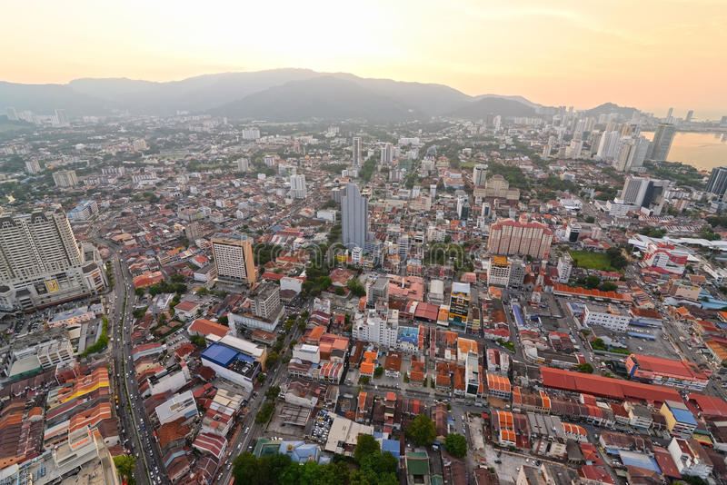 Georgetown Penang Malaysia arkivfoton