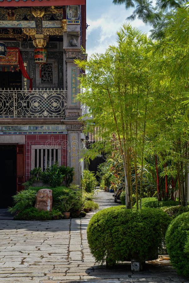 Free Georgetown, Penang, Malaysia. Chinatown Inner Temple Courtyard Stock Images - 162829424
