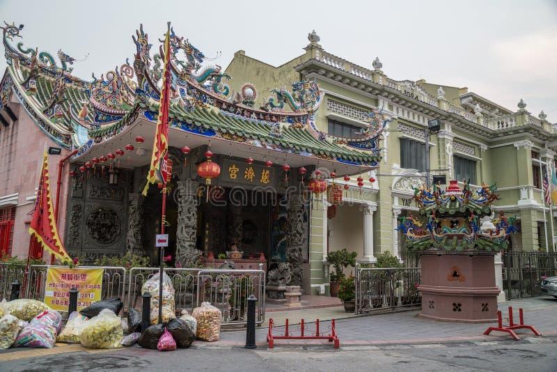 Georgetown Penang/Malaysia - circa Oktober 2015: YapKongsi tempel i Georgetown, Penang, Malaysia royaltyfria bilder