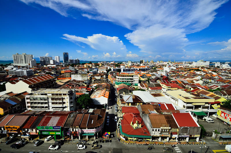 Georgetown Penang Malaysia stock photo