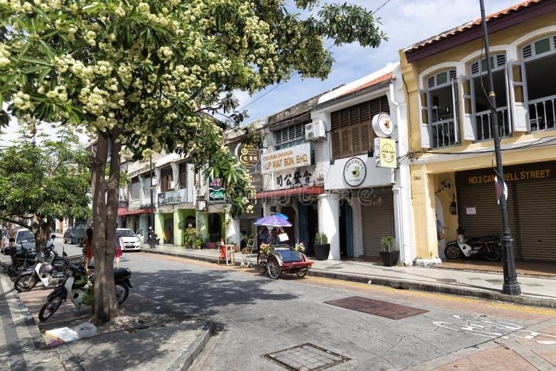 Georgetown, Penang - 23 novembre 2016 : Une scène typique de rue photo stock