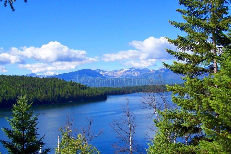 Georgetown sjö, Pintler berg, Montana arkivbild