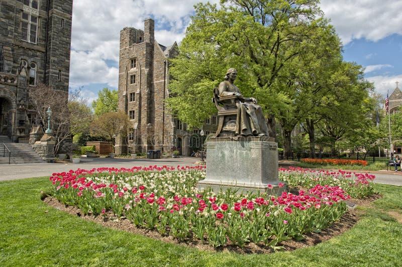 Georgetown universitet i Washington DC fotografering för bildbyråer