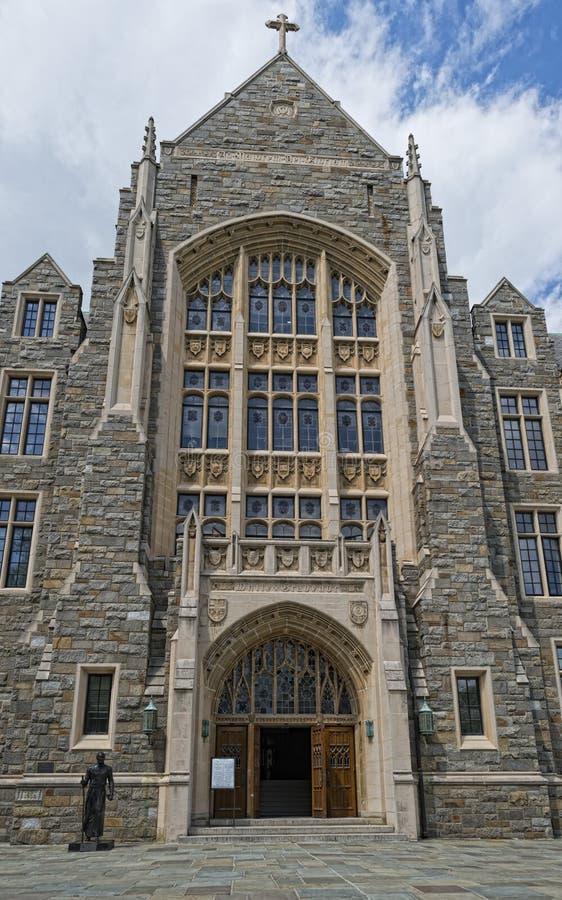 Georgetown universitet i Washington DC arkivbild