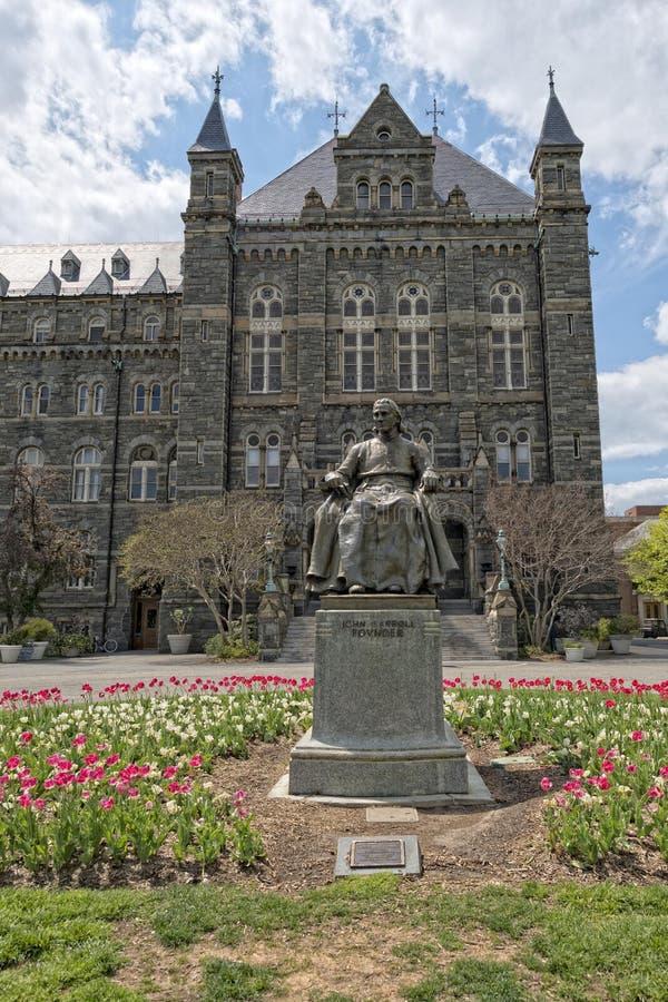 Georgetown universitet i Washington DC royaltyfria bilder