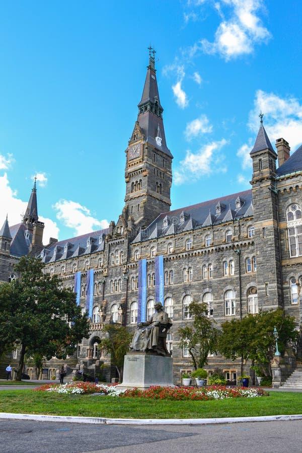Georgetown universitetsområde i Washington DC royaltyfri bild