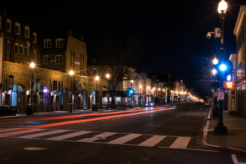 Georgetown, washington dc przy świtem obrazy stock