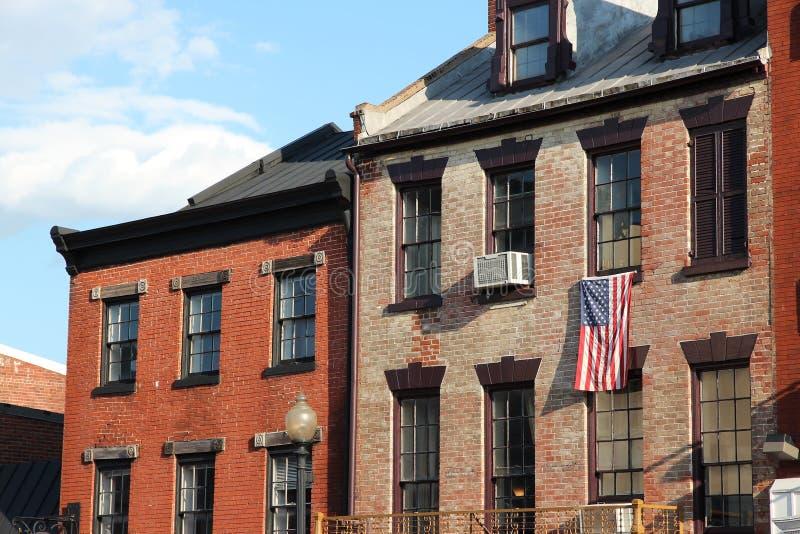 Georgetown Washington. Georgetown Historic Neighborhood in Washington D.C. United States stock image