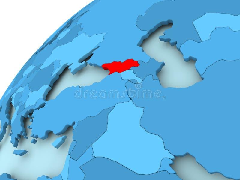 Georgië op blauwe bol vector illustratie
