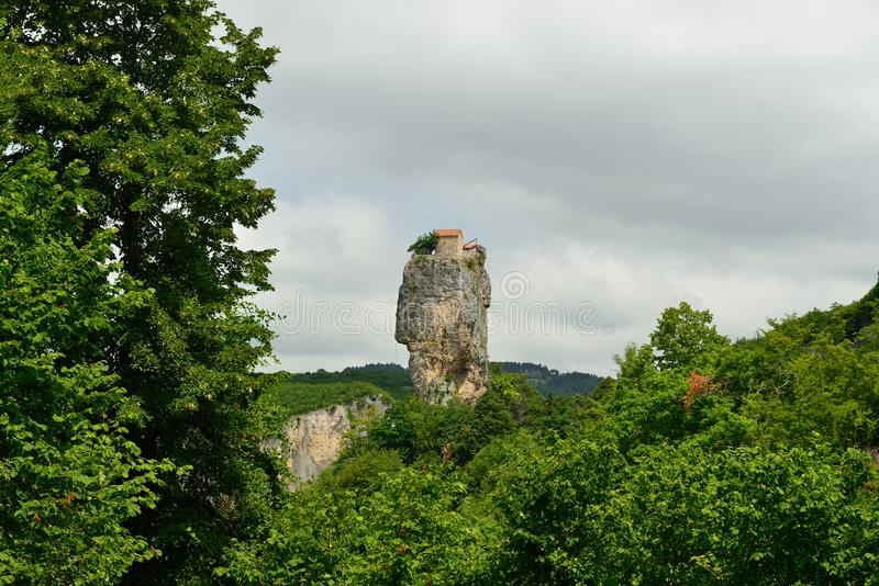 Georgia, штендер Katskhi стоковое изображение
