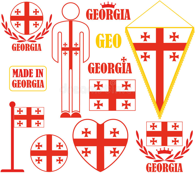 georgia vektor illustrationer