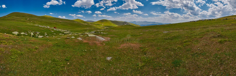 Georgia alta nel panorama del paesaggio delle montagne immagine stock libera da diritti