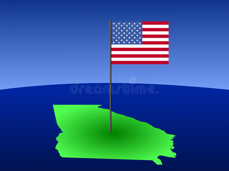 Georgia With American Flag Stock Photography
