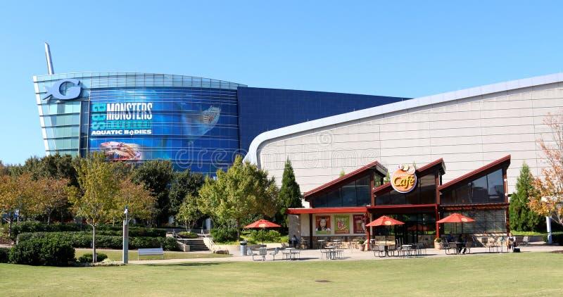 Georgia Aquarium e o Hard Rock Café em Atlanta do centro, GA imagens de stock