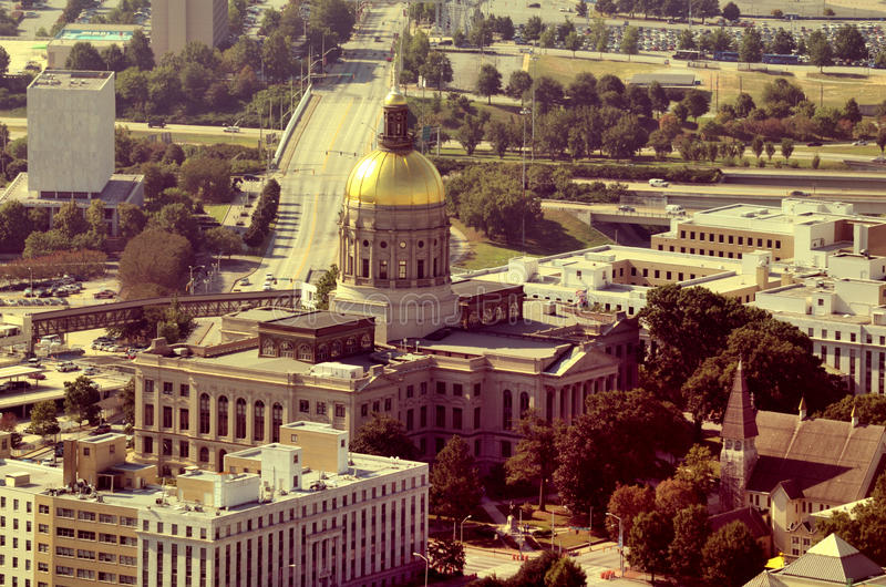 Georgia Capitol stock photo
