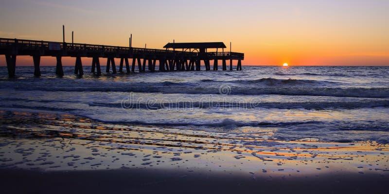 Georgia Coast Sunrise Panorama fotografia stock