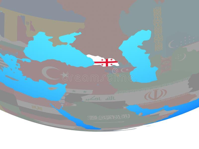Georgia con la bandera en el globo libre illustration